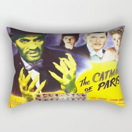 The Catman of Paris, Vintage Horror Movie, Theater Poster Rectangular Pillow