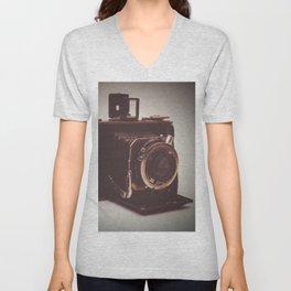 old kodak camera Unisex V-Neck