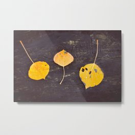 Leaves Trio Metal Print
