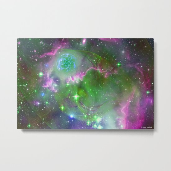 Gas Giant Forming Metal Print