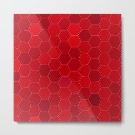 Hexal Red Metal Print