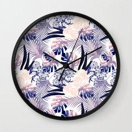 Lilac tropics. Wall Clock