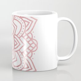 Elegant faux rose gold floral mandala Coffee Mug