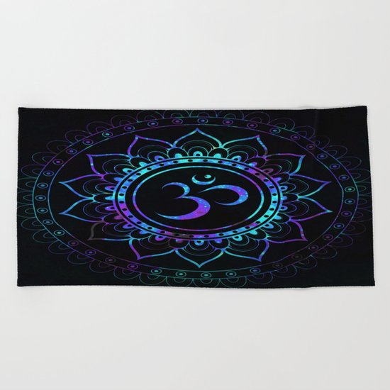 Om Mandala: Colorful Galaxy Beach Towel