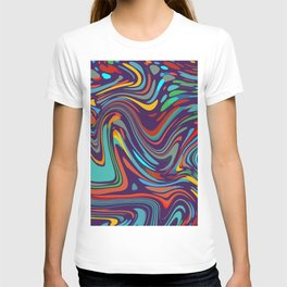 Colorful disco pattern T-shirt