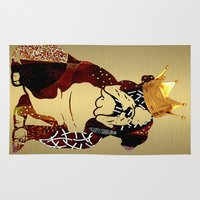english bulldog Area & Throw Rugs featuring English Bulldog by marvinblaine
