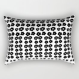 black flowers on a white background Rectangular Pillow