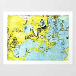 #100 The Map Room Art Print