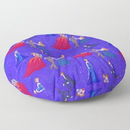 The Princess and the Con Man Floor Pillow