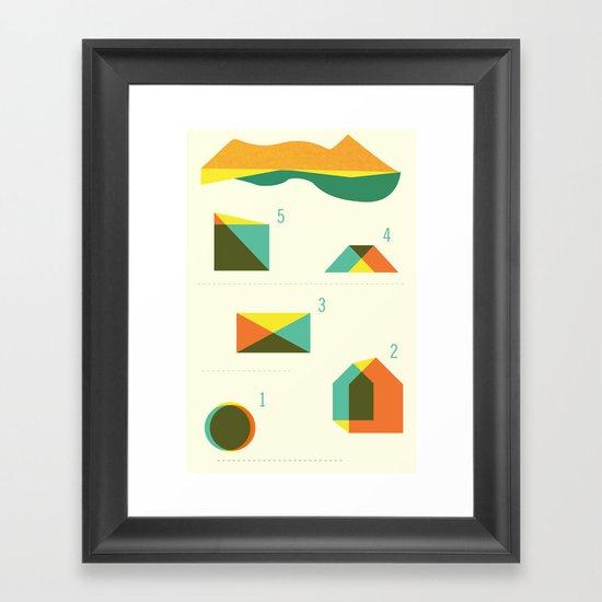 Campground Map Framed Art Print