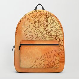 Watercolor Mandala Pattern Orange Backpack