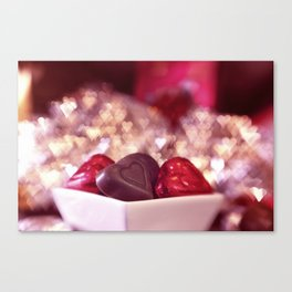 I Love Chocolate and Valentines Day Canvas Print