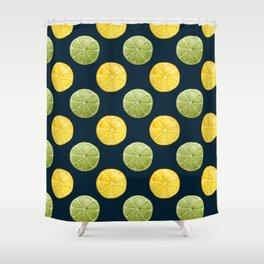 Watercolor Lemon Lime Pattern Shower Curtain