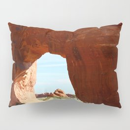 At The End Of The Trail - Pine Tree Arch Pillow Sham