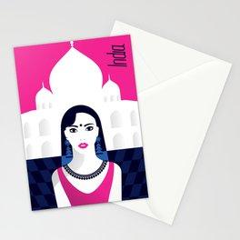 India - Stylish journey Stationery Cards
