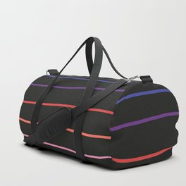 Abstract Retro Stripes #4 Duffle Bag