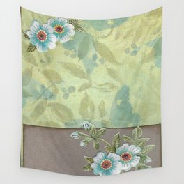 Brown paper flowers Wall Tapestry