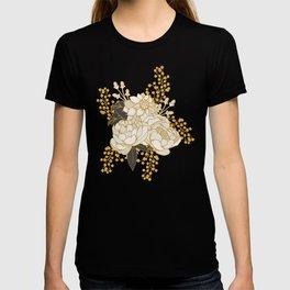 Glam Florals - Gold T-shirt