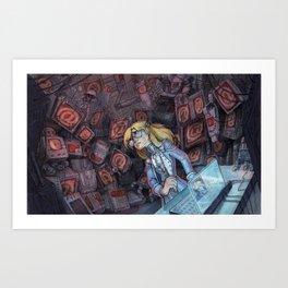 Code Romantic: Mina Poster Art Print