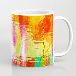 Burnt orange reflection on Lagoon Coffee Mug