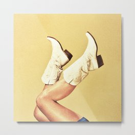 These Boots - Yellow Metal Print
