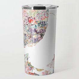 Lisbon map Travel Mug