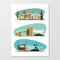 Hollywood Bungalows Canvas Print