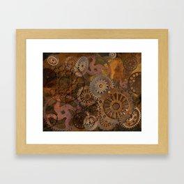 Changing Gear - Steampunk Gears & Cogs Framed Art Print