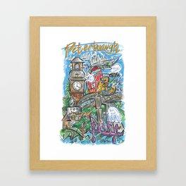 PTBO Mashup Framed Art Print
