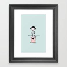 martina y anitram Framed Art Print