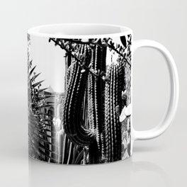 Cacti Garden Majorelle Marrakech Black and White Coffee Mug