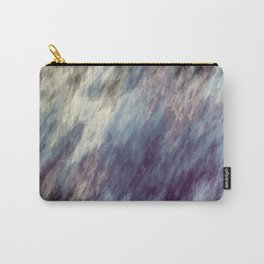 Blue Black and Purple Streaks Abstract Carry-All Pouch