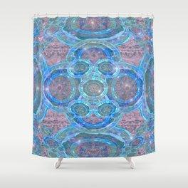 Pastel Illuminated Boho Mandala Shower Curtain