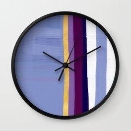 Violet purple Wall Clock