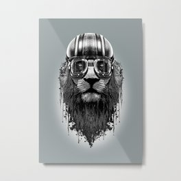 LION RACER Metal Print