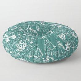 Da Vinci's Anatomy Sketchbook // Genoa Green Floor Pillow