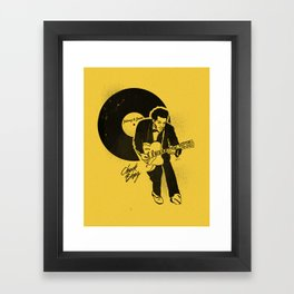 "Chuck Berry, ""Johnny B. Goode"" Illustration Framed Art Print"