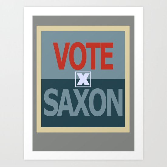 Vote Saxon Art Print