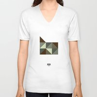 oregon V-neck T-shirts featuring Geometric Oregon by INDUR
