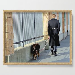 The Shadow Striper's Dog Walk Serving Tray