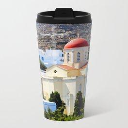 Pyrgos Orthodox church Metal Travel Mug