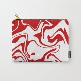 Holiday Red Liquid Marble Effect Pattern Carry-All Pouch