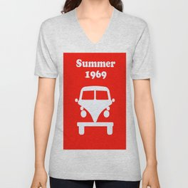 Summer 1969 - red Unisex V-Neck