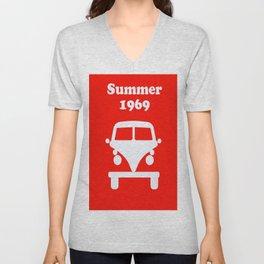 Summer 1969 - red Unisex V-Neck
