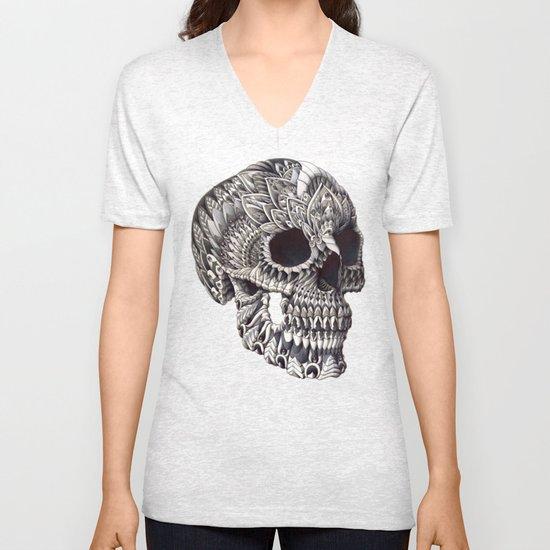 Ornate Skull Unisex V-Neck