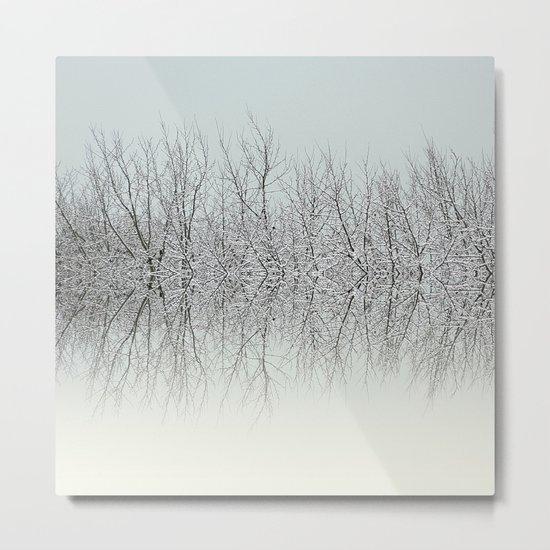Winter tree tops Metal Print