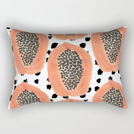 Bold Papayas Rectangular Pillow