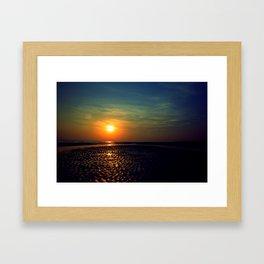 Sunset in Kutch Framed Art Print