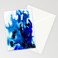 Paint 8 abstract indigo watercolor painting minimal modern canvas art affordable home decor trendy Stationery Cards