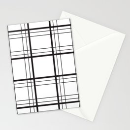 Checkered black and white classic pattern Stationery Cards